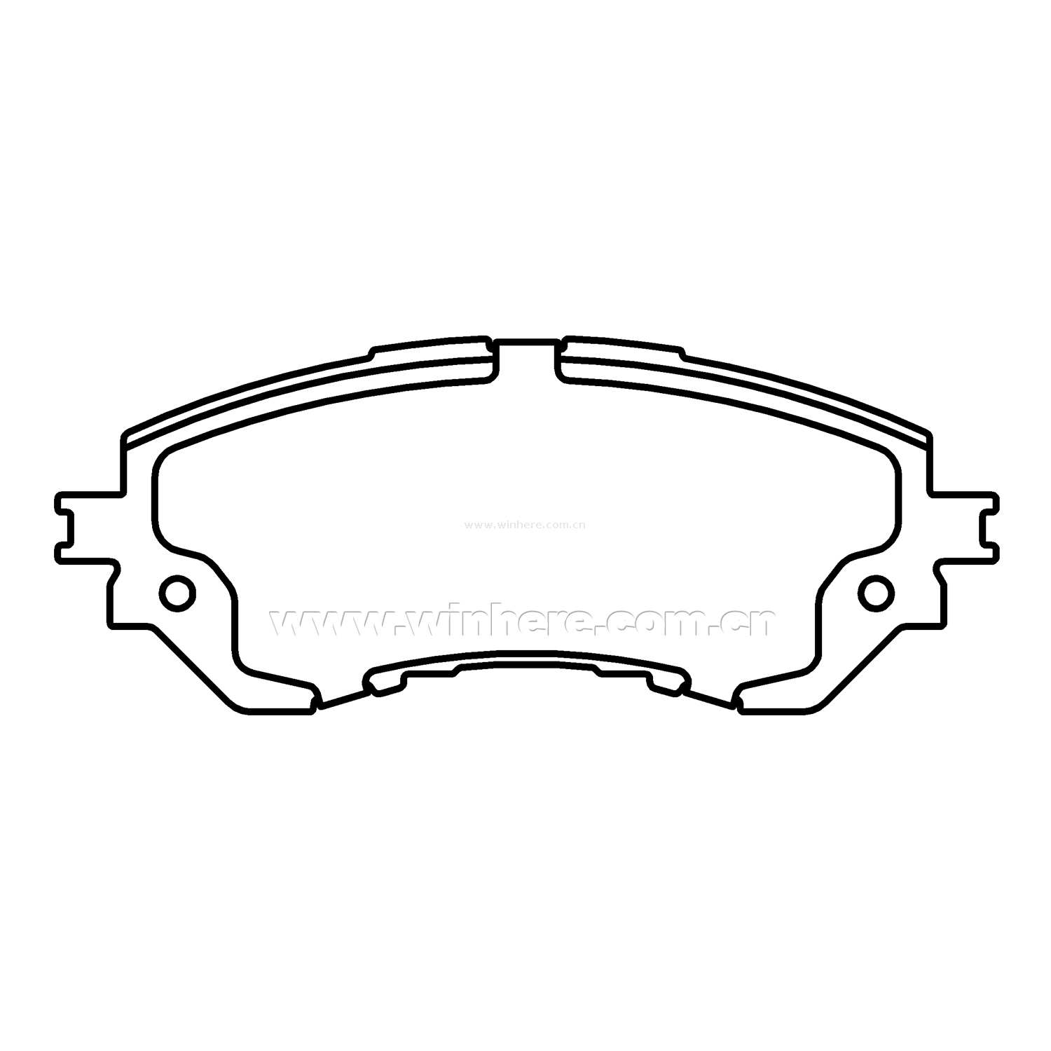 Front Ceramic Dustless Brake Pad for TOYOTA ECE R90